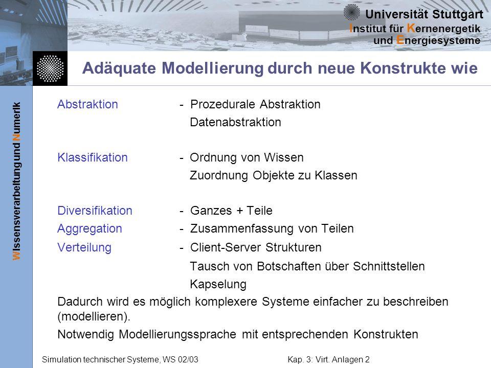 Adäquate Modellierung durch neue Konstrukte wie