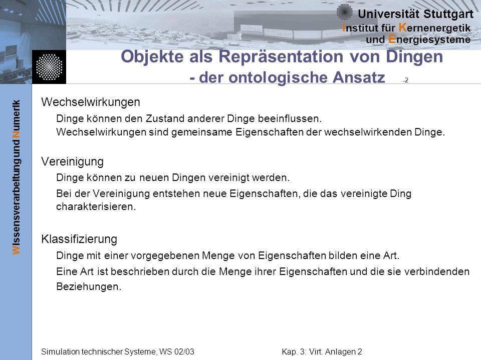 Objekte als Repräsentation von Dingen - der ontologische Ansatz -2