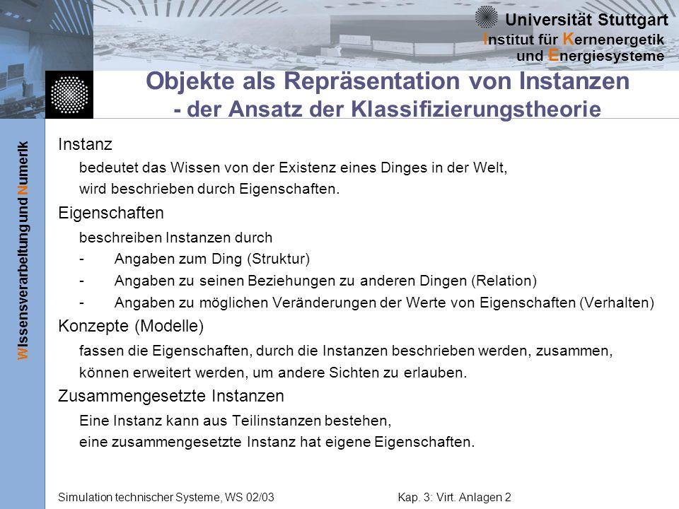 Objekte als Repräsentation von Instanzen - der Ansatz der Klassifizierungstheorie