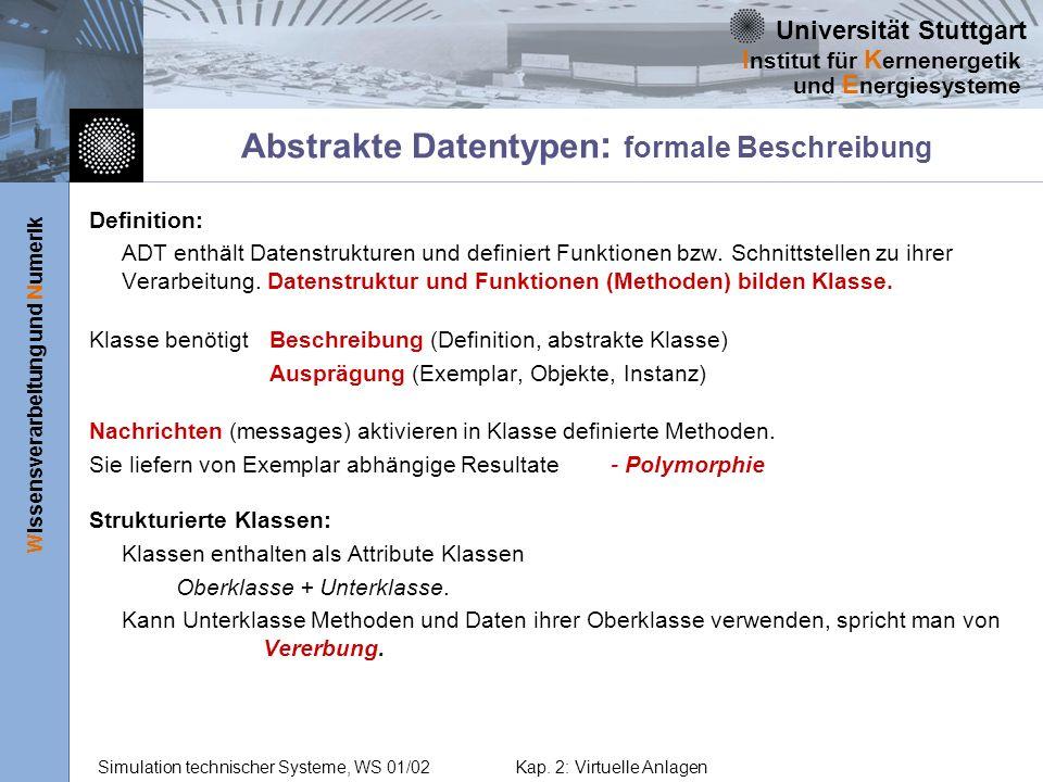 Abstrakte Datentypen: formale Beschreibung