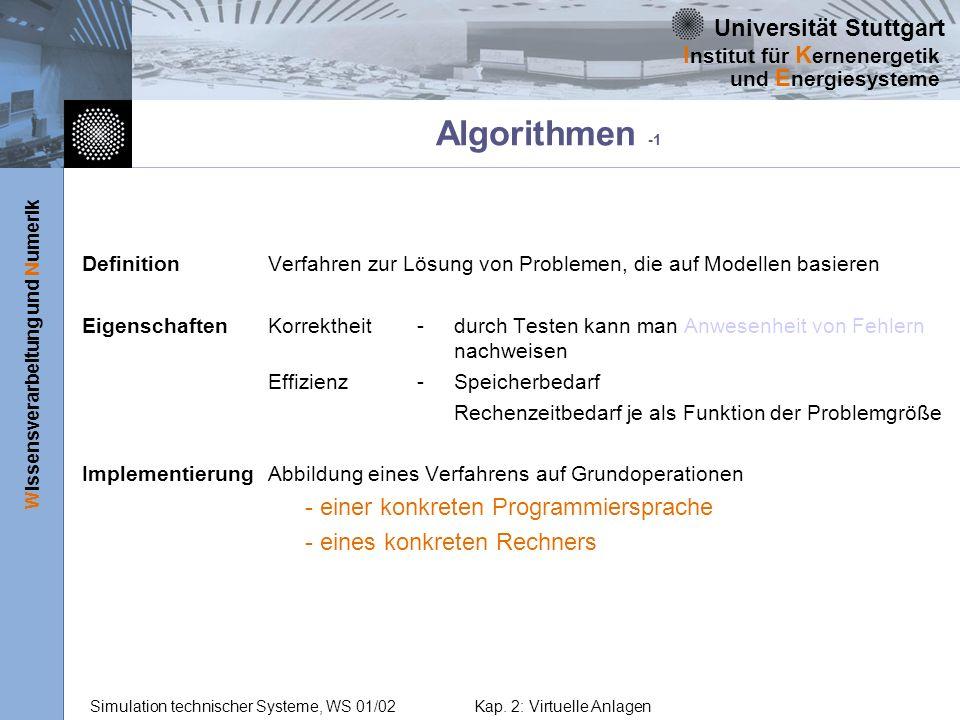 Algorithmen -1 - einer konkreten Programmiersprache