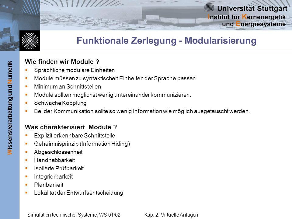 Funktionale Zerlegung - Modularisierung