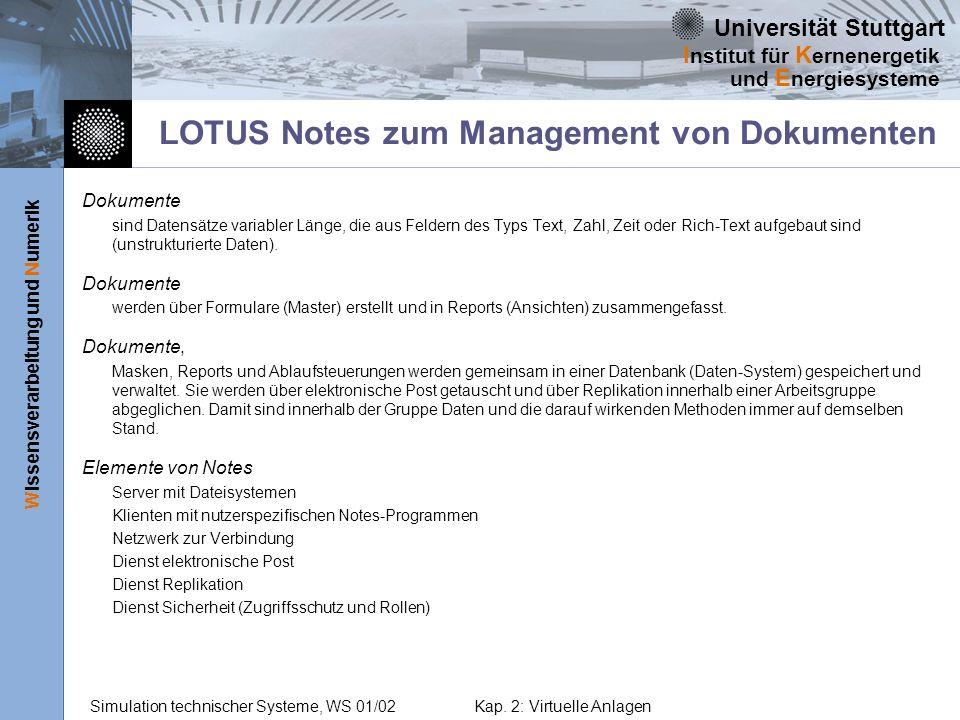 LOTUS Notes zum Management von Dokumenten