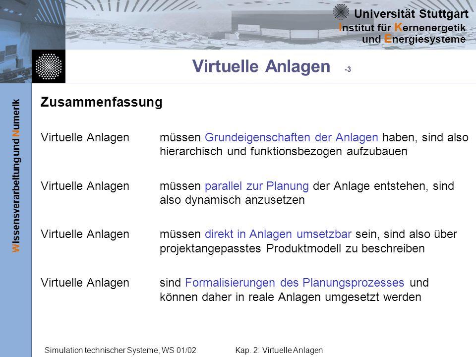 Virtuelle Anlagen -3 Zusammenfassung