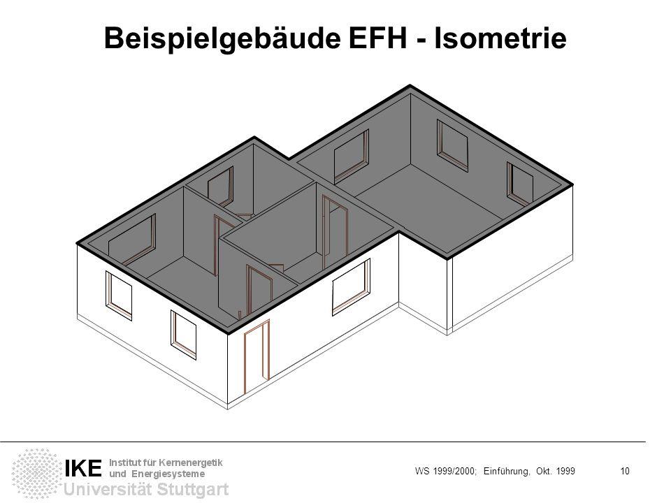 Beispielgebäude EFH - Isometrie