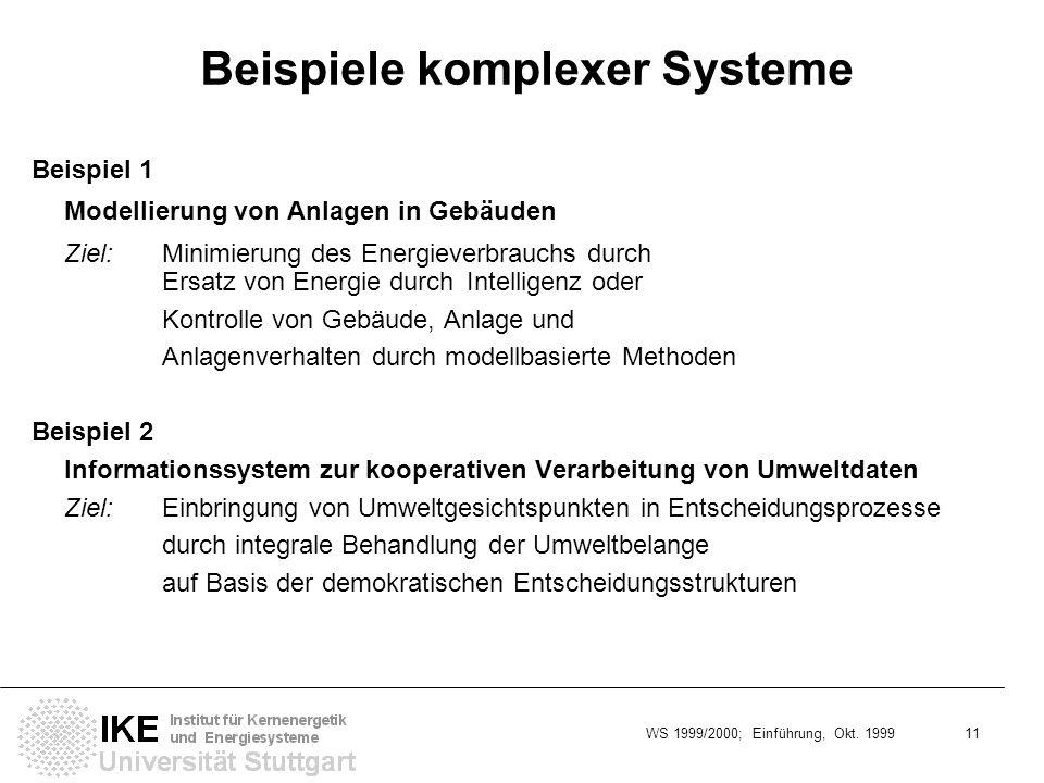 Beispiele komplexer Systeme