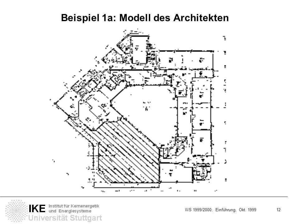 Beispiel 1a: Modell des Architekten