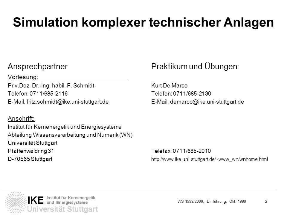 Simulation komplexer technischer Anlagen