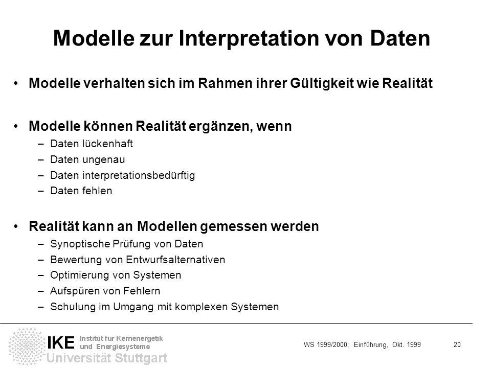 Modelle zur Interpretation von Daten