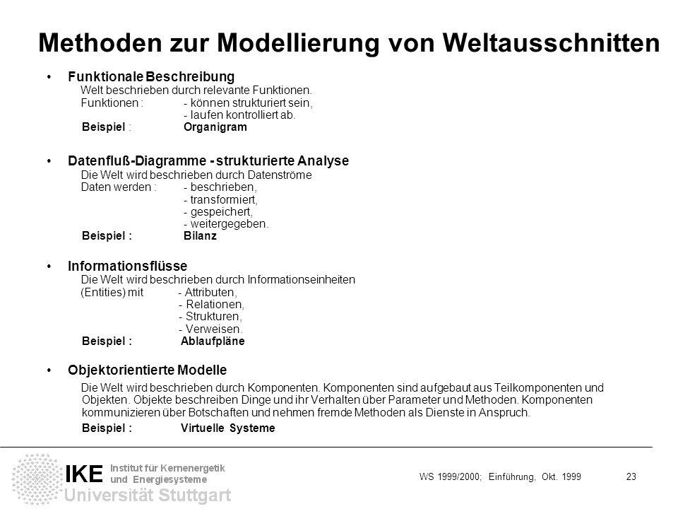 Methoden zur Modellierung von Weltausschnitten