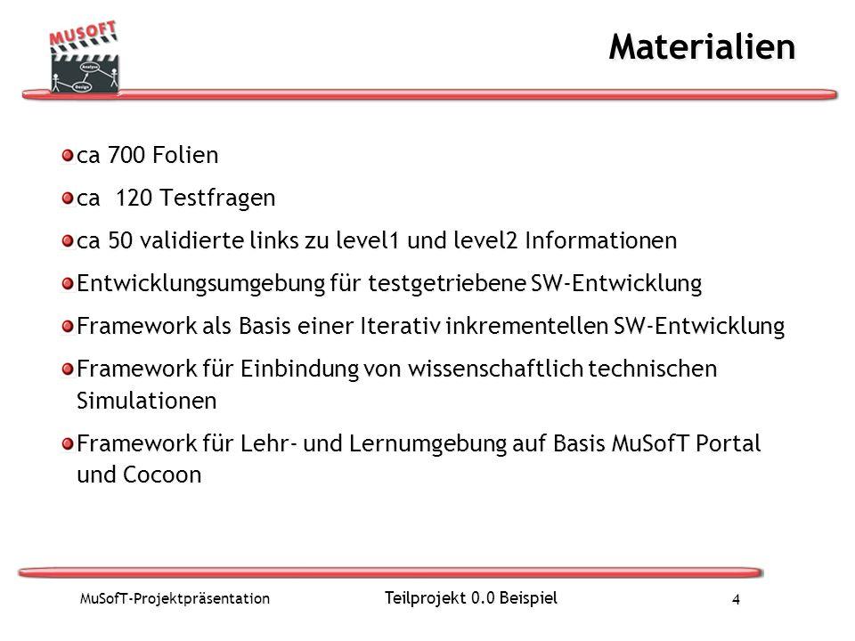 Materialien ca 700 Folien ca 120 Testfragen