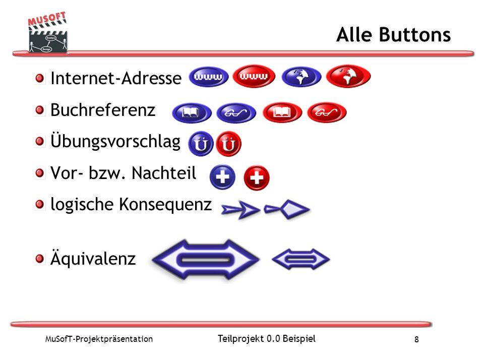 Alle Buttons Internet-Adresse Buchreferenz Übungsvorschlag