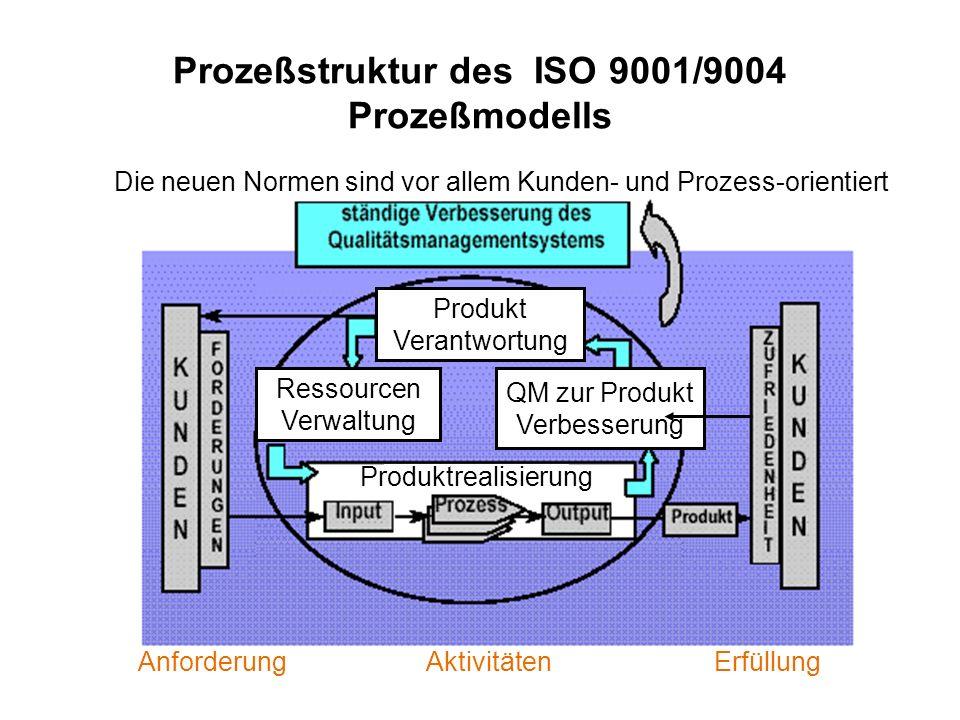 Prozeßstruktur des ISO 9001/9004 Prozeßmodells