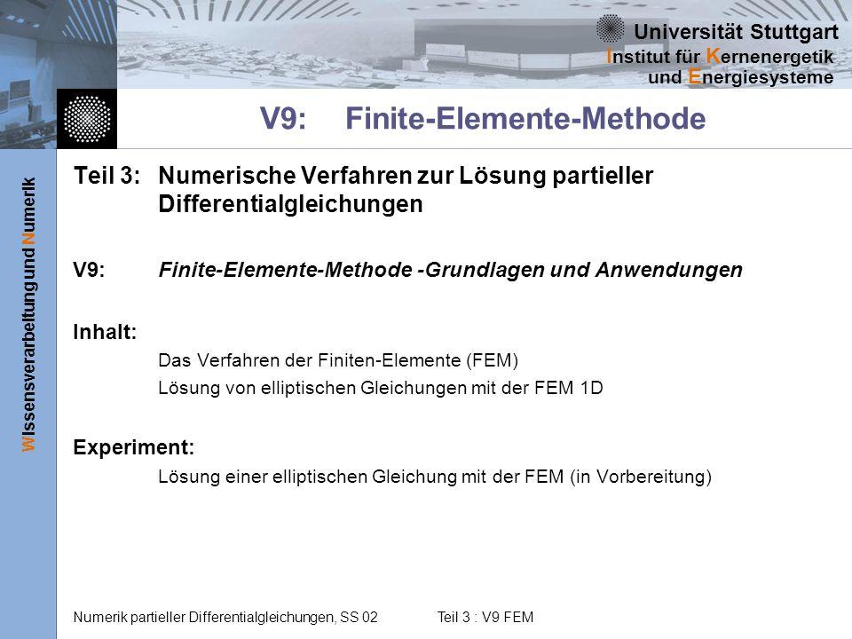 V9: Finite-Elemente-Methode