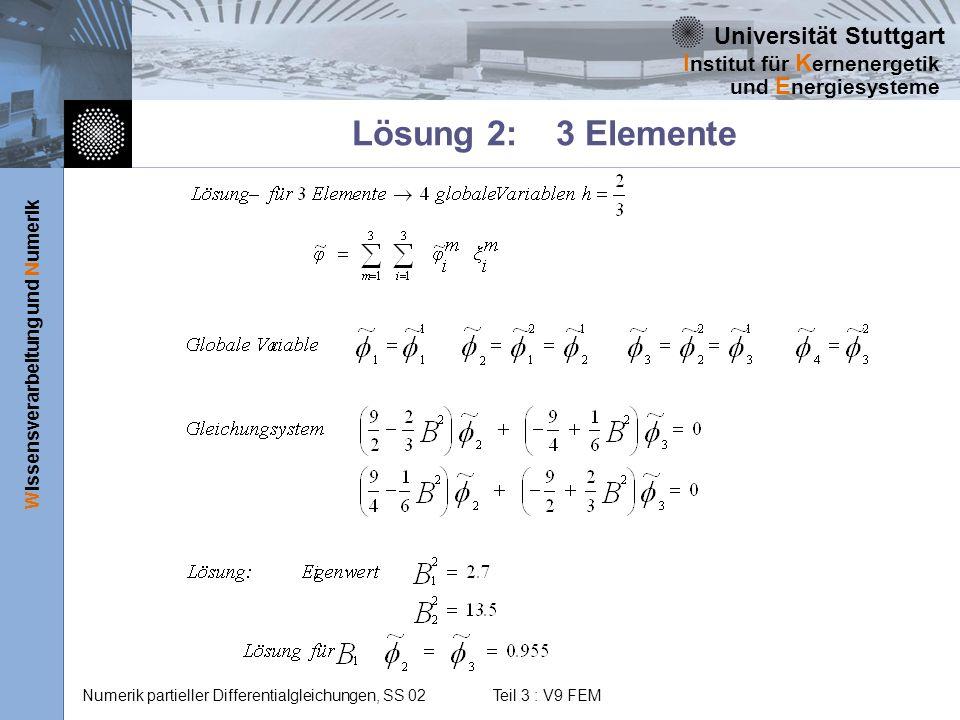 Lösung 2: 3 Elemente