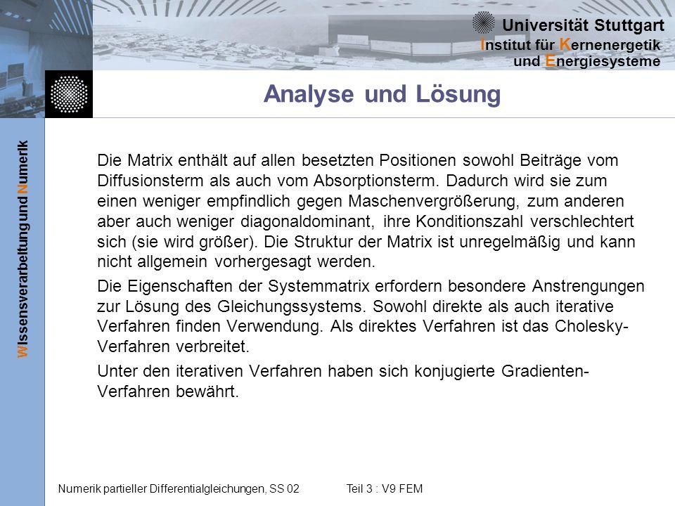 Analyse und Lösung