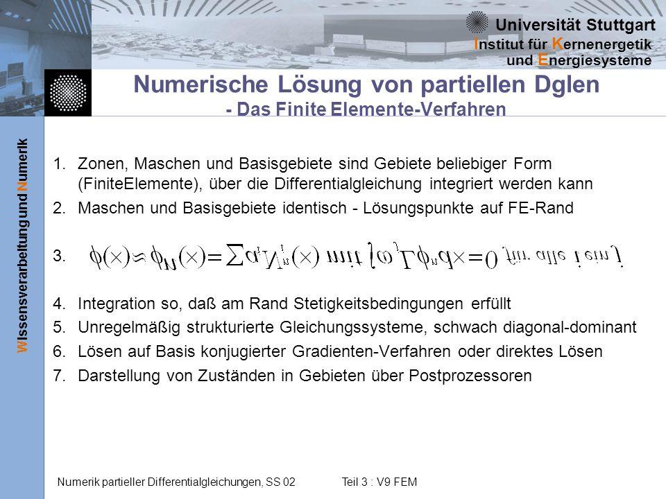 Numerische Lösung von partiellen Dglen - Das Finite Elemente-Verfahren