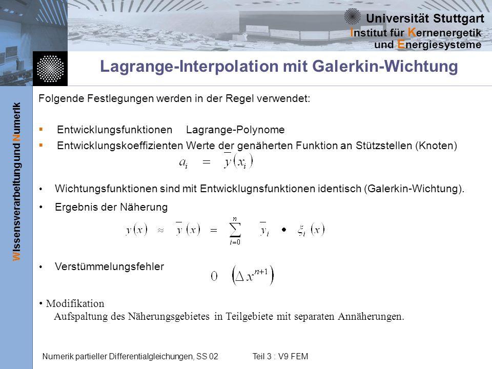 Lagrange-Interpolation mit Galerkin-Wichtung