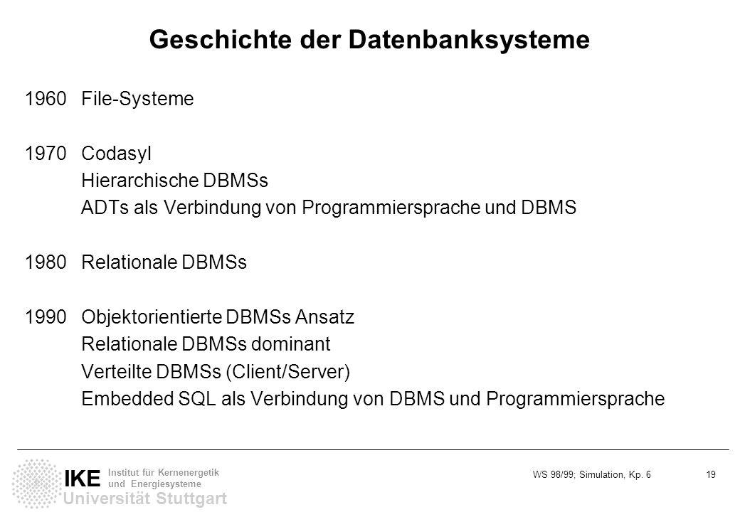 Geschichte der Datenbanksysteme