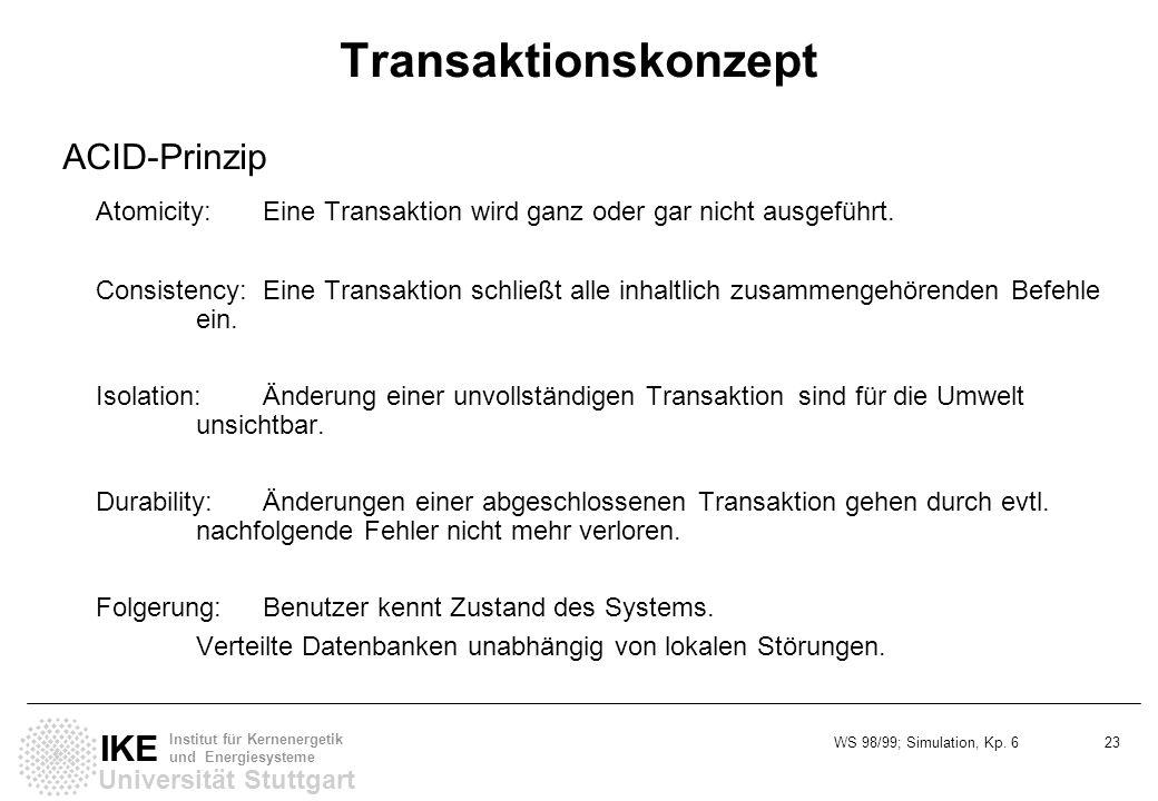 Transaktionskonzept ACID-Prinzip
