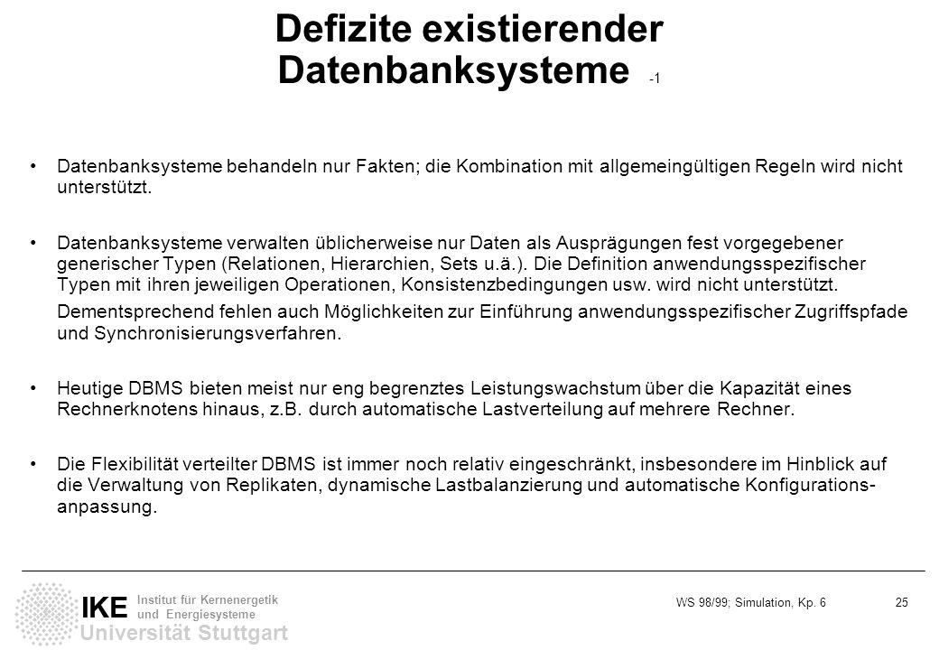 Defizite existierender Datenbanksysteme -1
