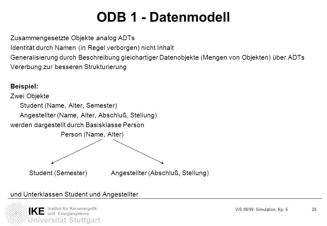 ODB 1 - Datenmodell Zusammengesetzte Objekte analog ADTs