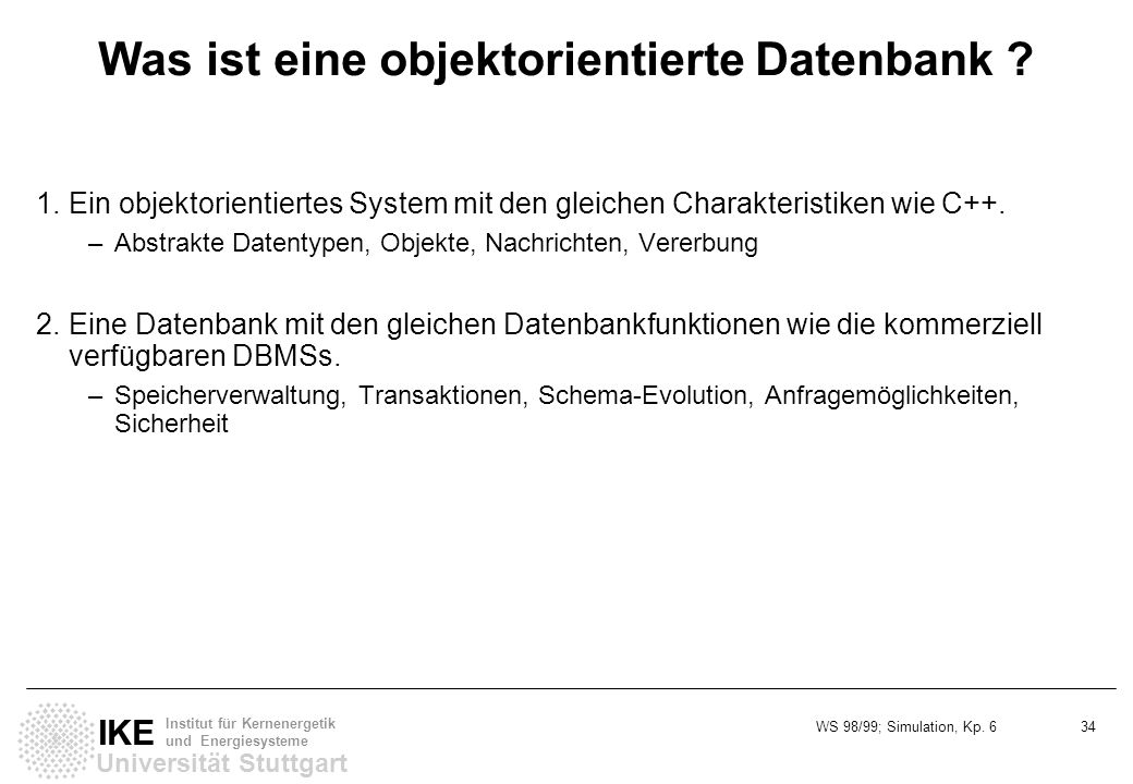 Was ist eine objektorientierte Datenbank