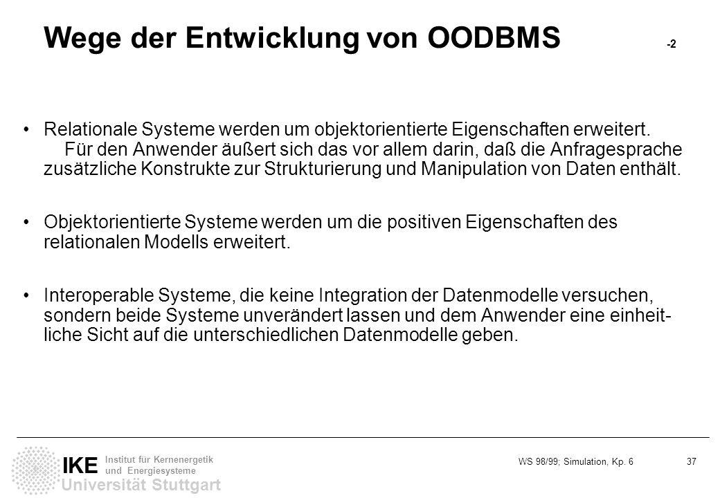 Wege der Entwicklung von OODBMS -2