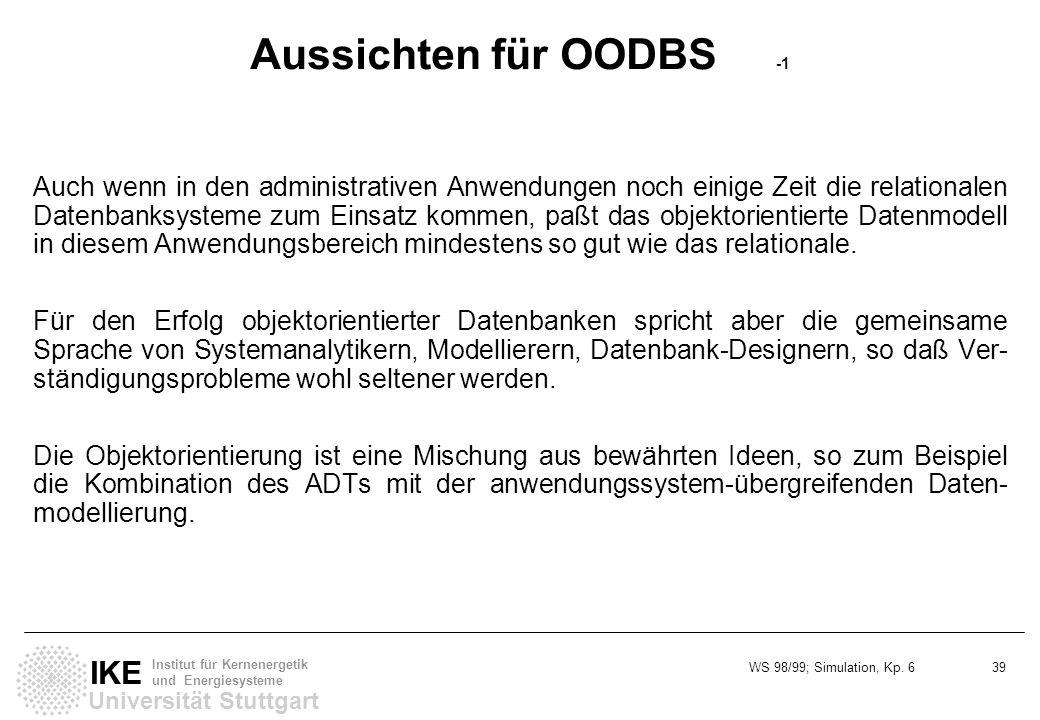 Aussichten für OODBS -1