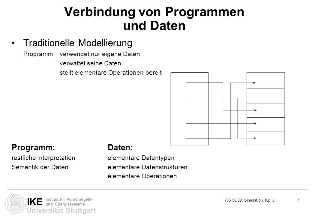 Verbindung von Programmen und Daten