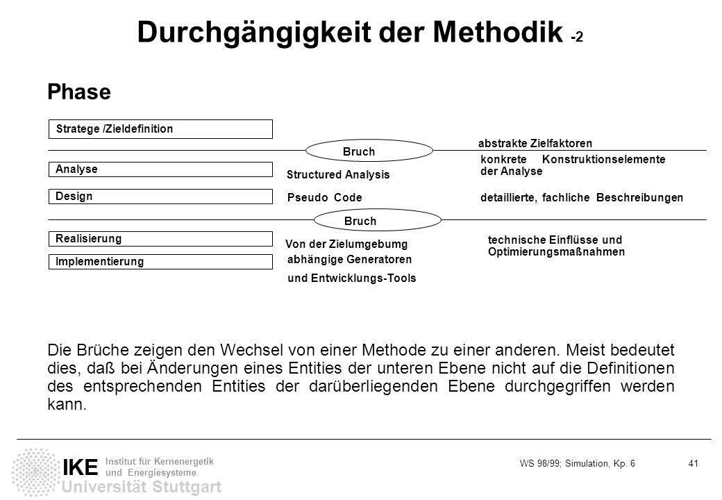 Durchgängigkeit der Methodik -2