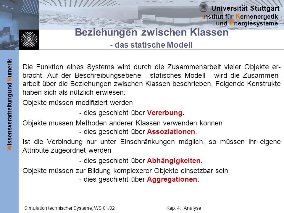 Beziehungen zwischen Klassen - das statische Modell