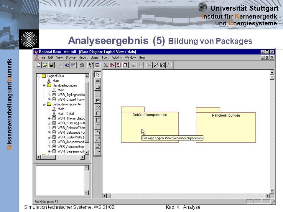 Analyseergebnis (5) Bildung von Packages