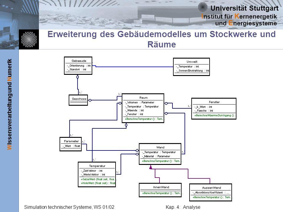 Erweiterung des Gebäudemodelles um Stockwerke und Räume