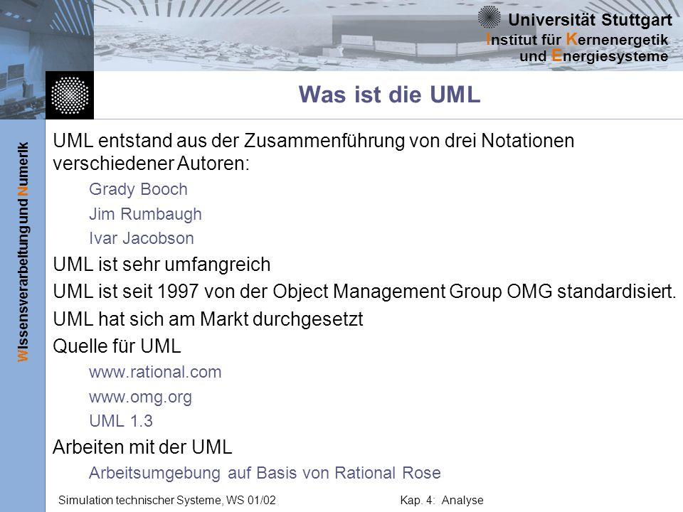 Was ist die UML UML entstand aus der Zusammenführung von drei Notationen verschiedener Autoren: Grady Booch.