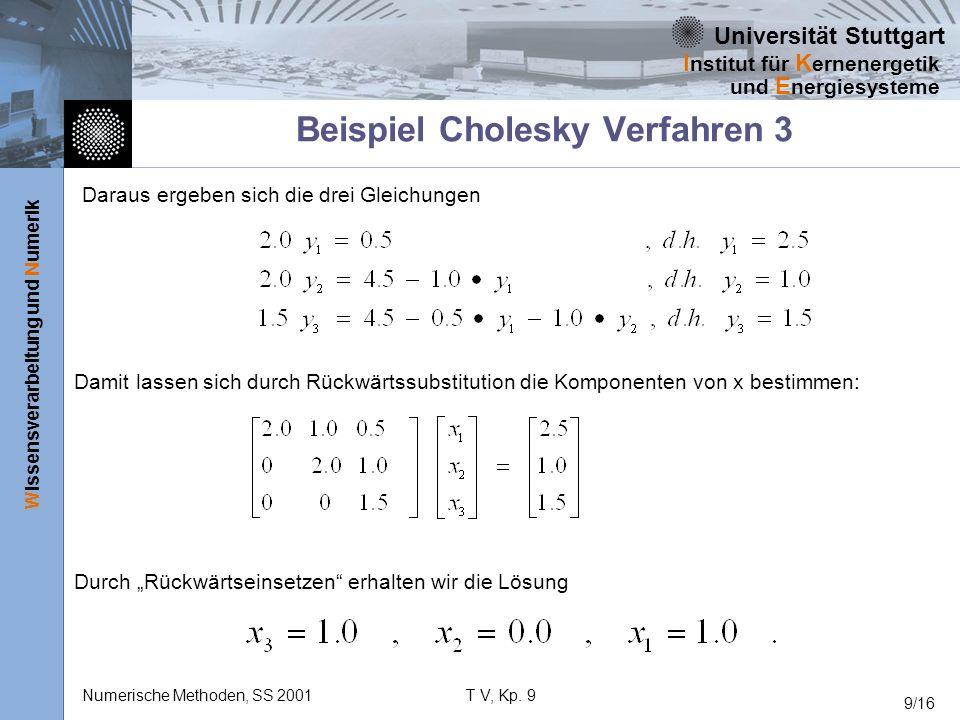 Beispiel Cholesky Verfahren 3