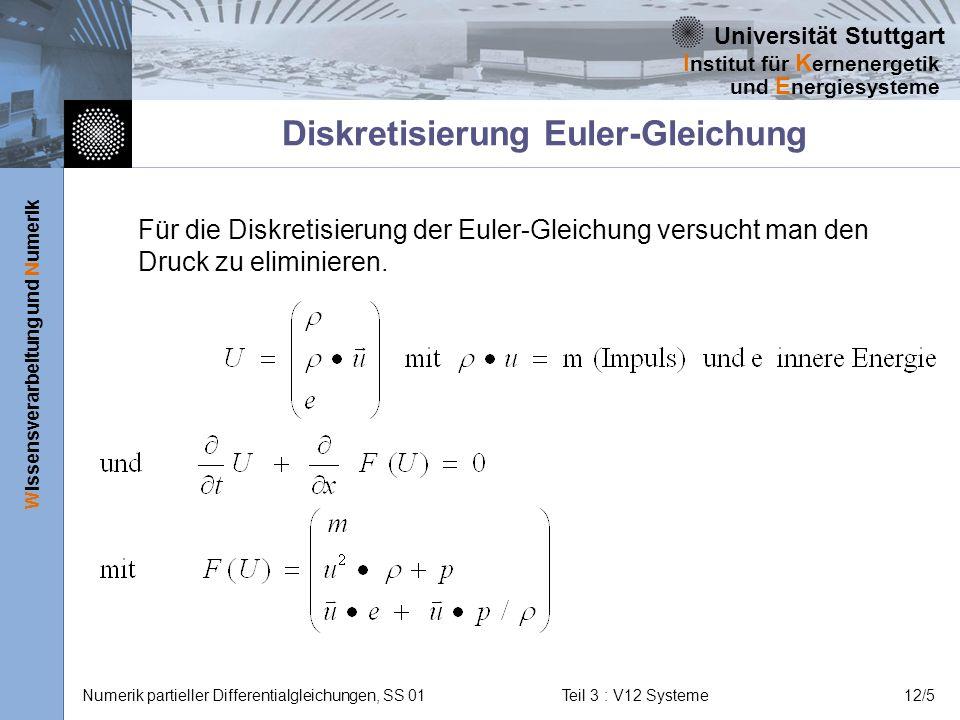 Diskretisierung Euler-Gleichung