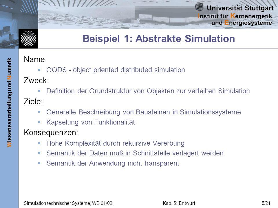 Beispiel 1: Abstrakte Simulation