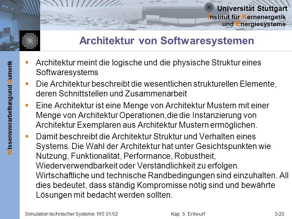 Architektur von Softwaresystemen
