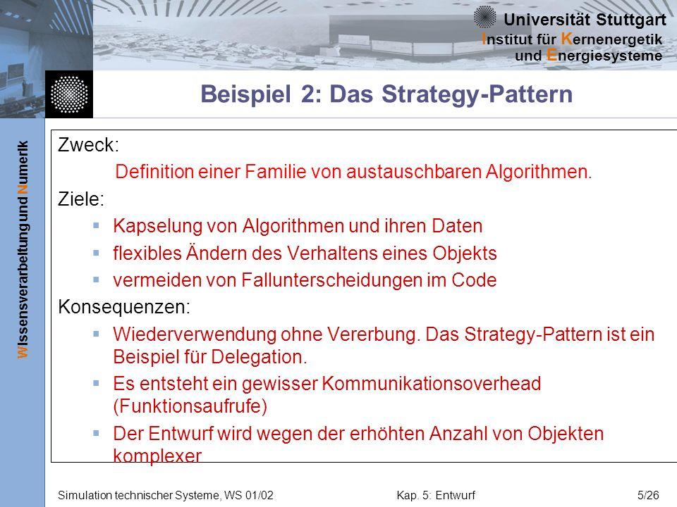 Beispiel 2: Das Strategy-Pattern