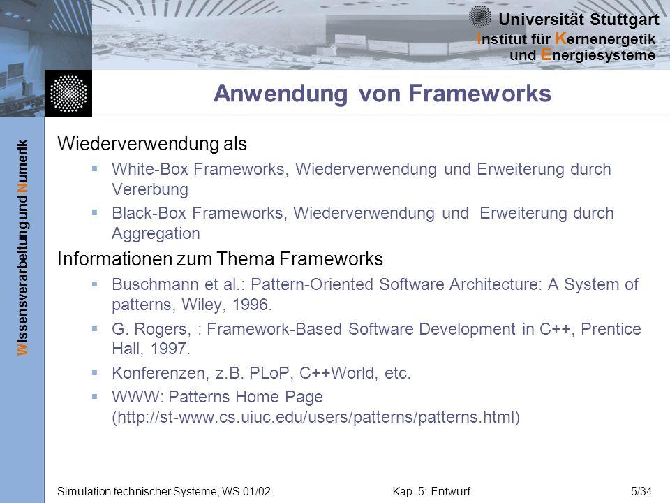 Anwendung von Frameworks