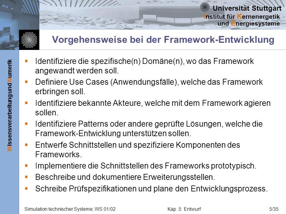 Vorgehensweise bei der Framework-Entwicklung