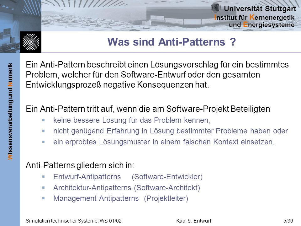 Was sind Anti-Patterns