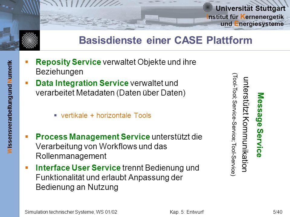 Basisdienste einer CASE Plattform
