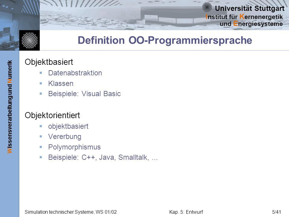 Definition OO-Programmiersprache