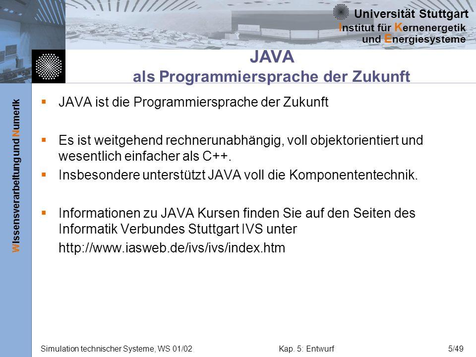 JAVA als Programmiersprache der Zukunft