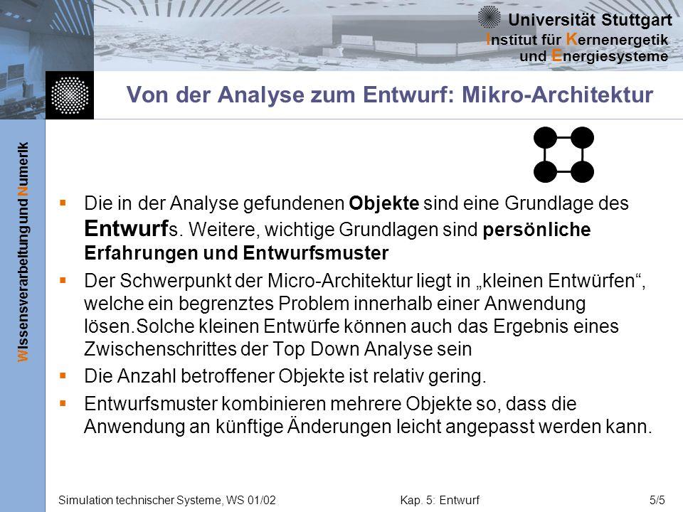 Von der Analyse zum Entwurf: Mikro-Architektur