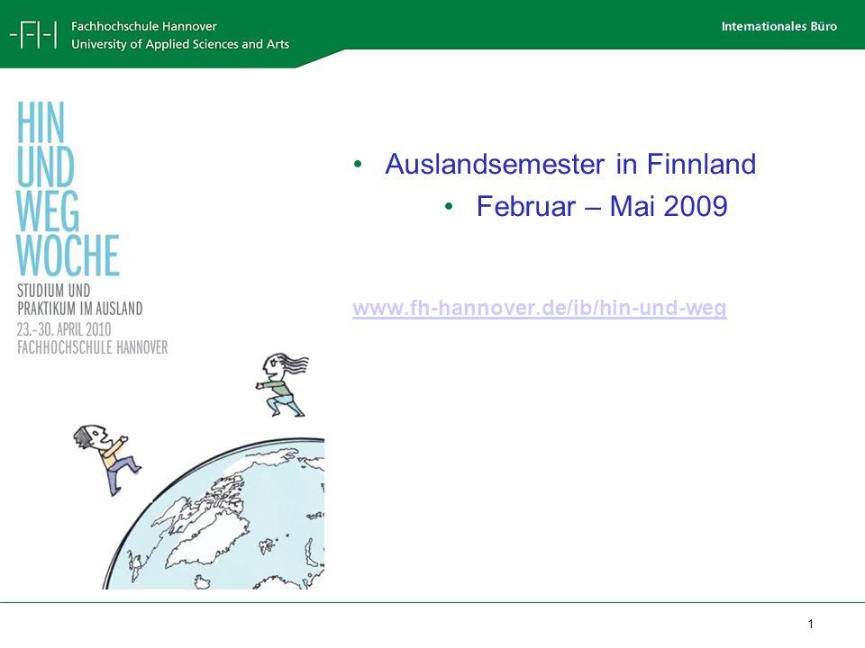 Auslandsemester in Finnland Februar – Mai 2009