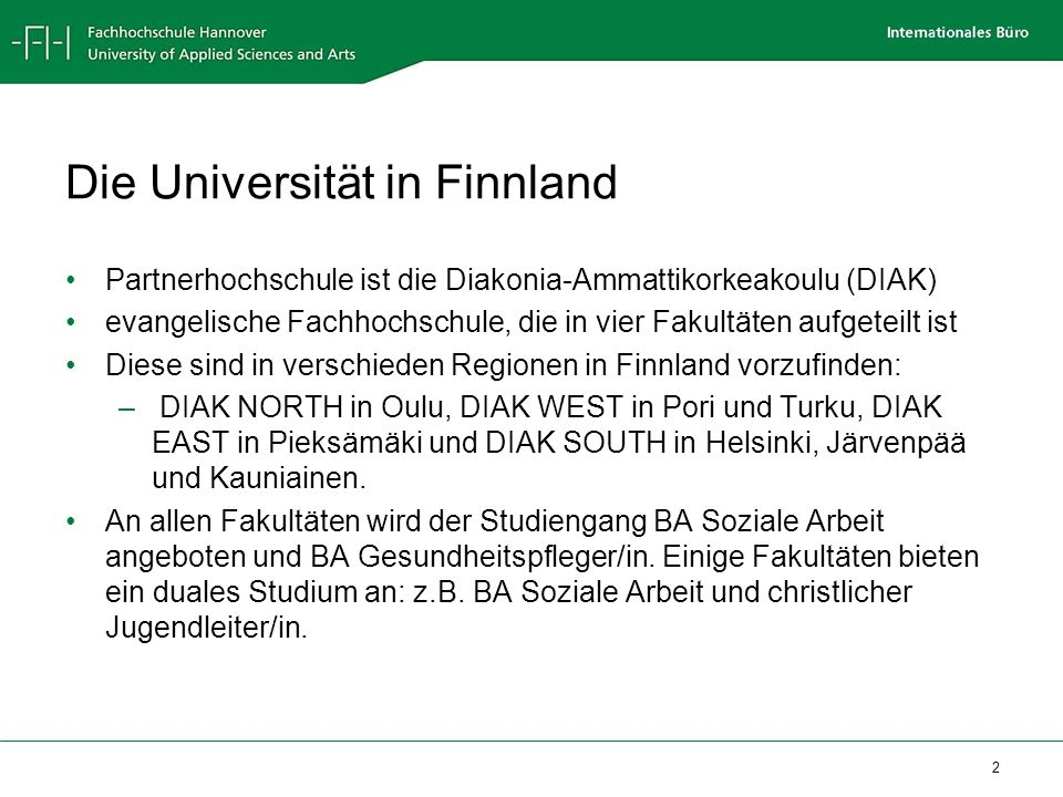 Die Universität in Finnland