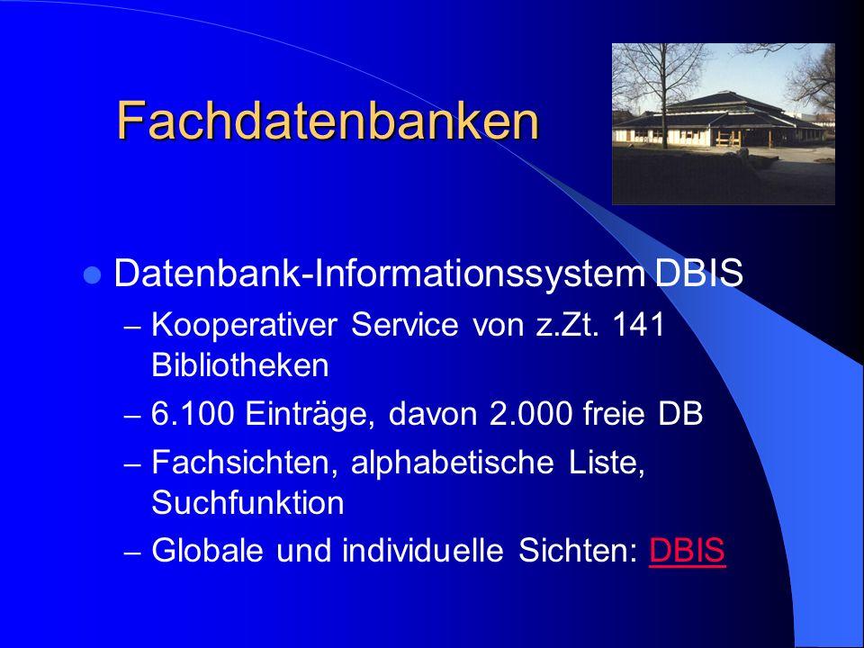 Fachdatenbanken Datenbank-Informationssystem DBIS